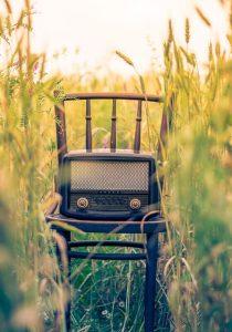 cadeira com rádio